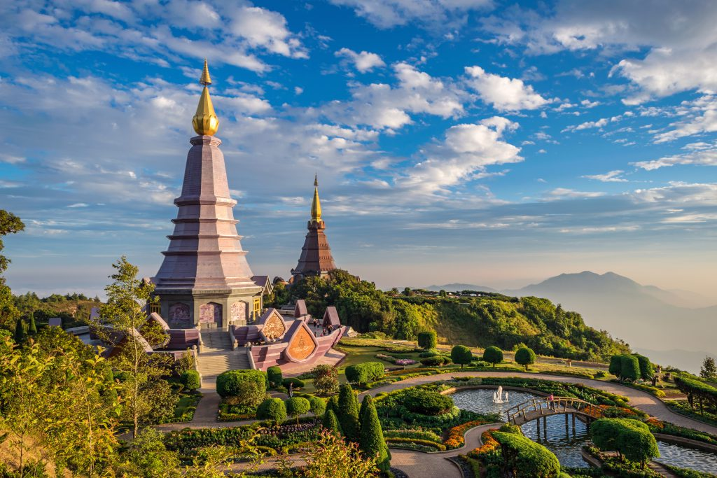 Sunset at Doi Inthanon - Chiang mai Thailand