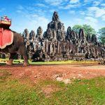 Angkor wat khmer temple