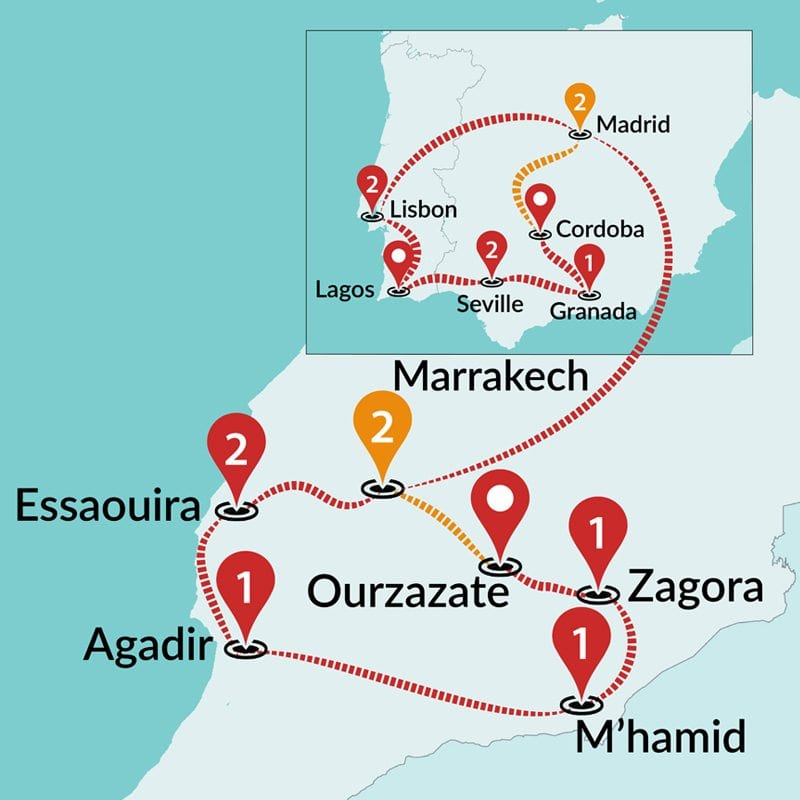 Map Of Tour Of Spain 2017.Spain Tours Trips To Spain And Portugal Travel Talk Tours
