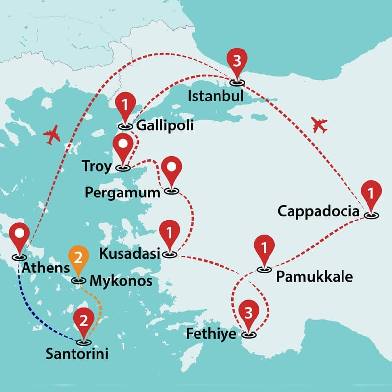 Greece and Turkey Discovered   Greece Tours   Greece Group Tours ...