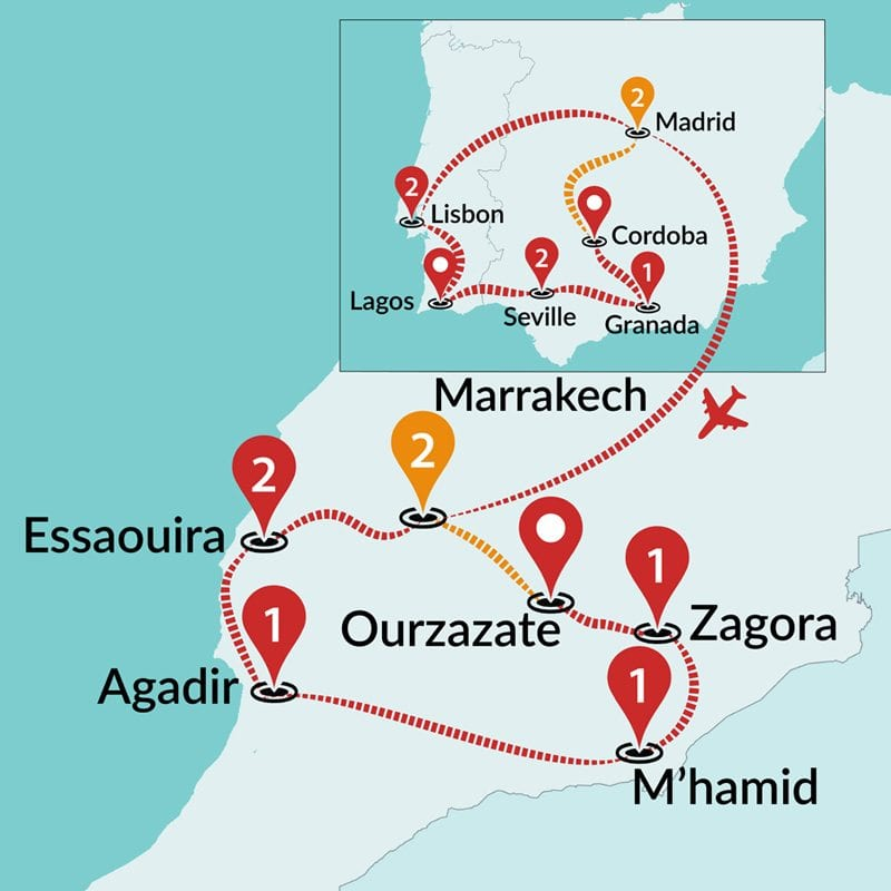 Detailed Map Of Spain Portugal And Morocco.Magical Spain Portugal And Morocco Spain And Portugal Tours