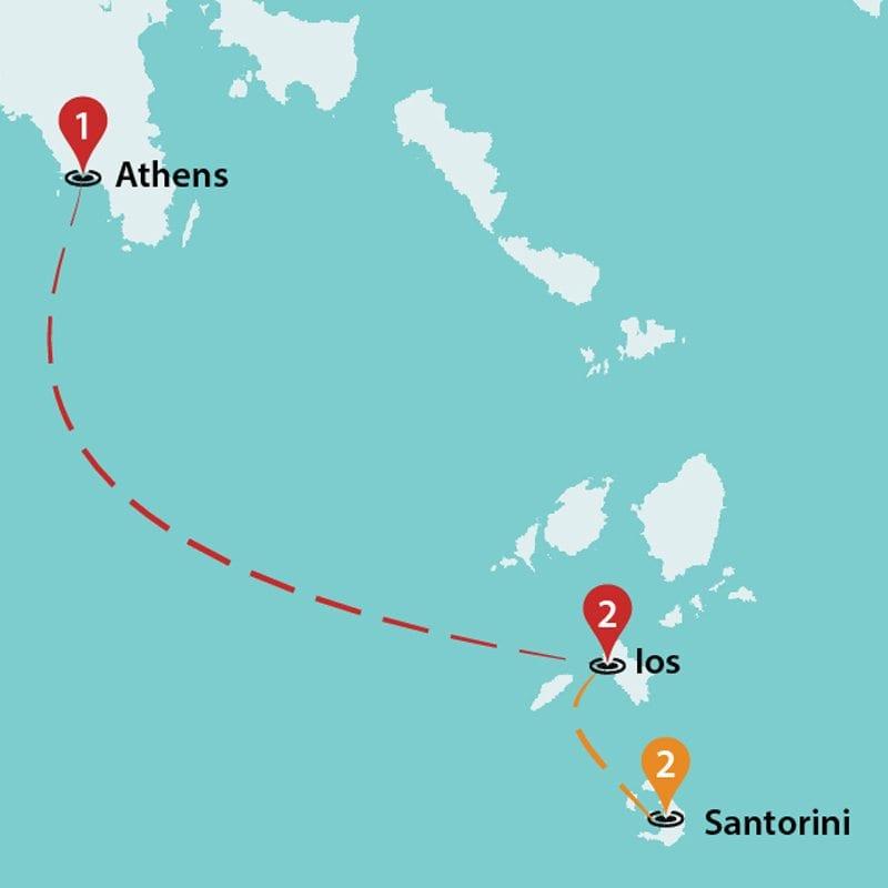 Santorini To Athens Greece Tours Greece Group Tours